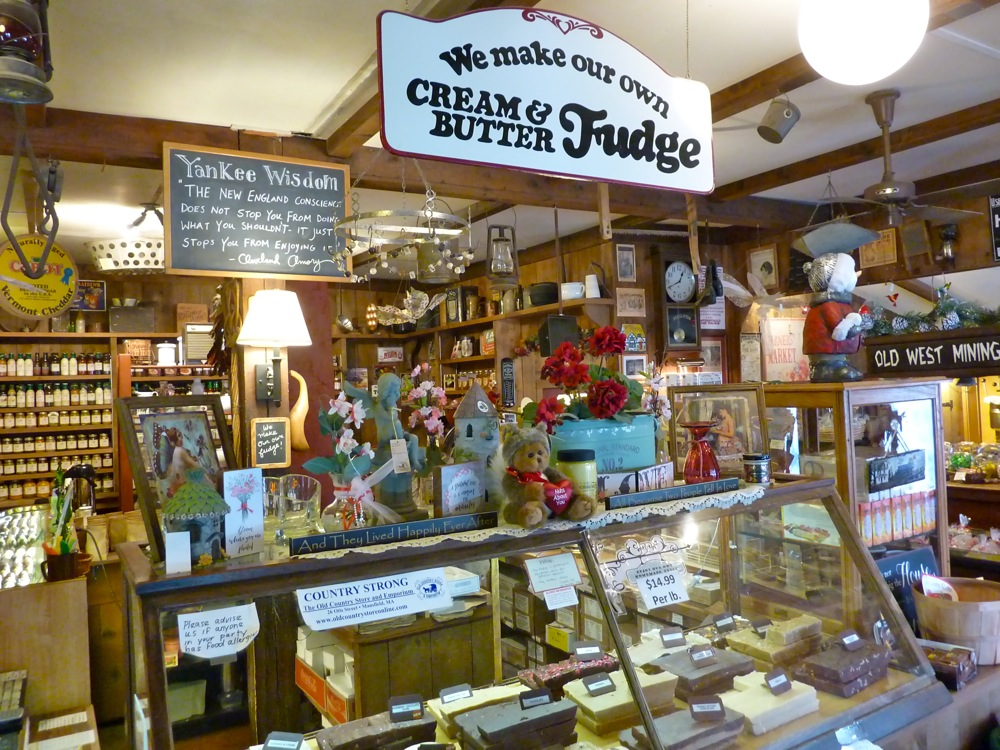 Fudge counter at the Old Country Store and Emporium in Mansfield, Massachusetts