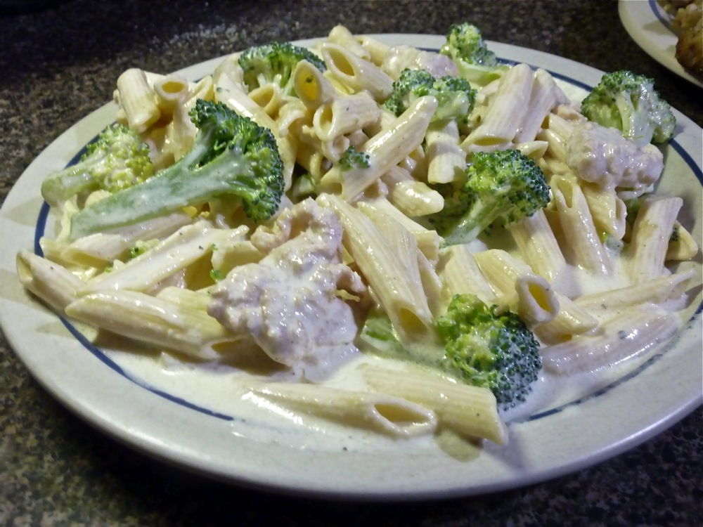 Chicken, broccoli and penne from Oliva's Market in Milford, Massachusetts.