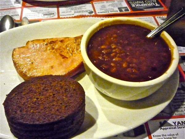 Maple baked beans with ham and brown bread Parker's Maple Barn, Mason NH