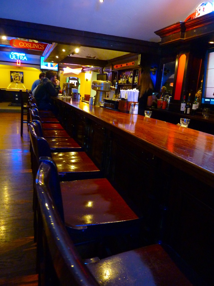 The bar at Parker's Pub in Wrentham, Mass.