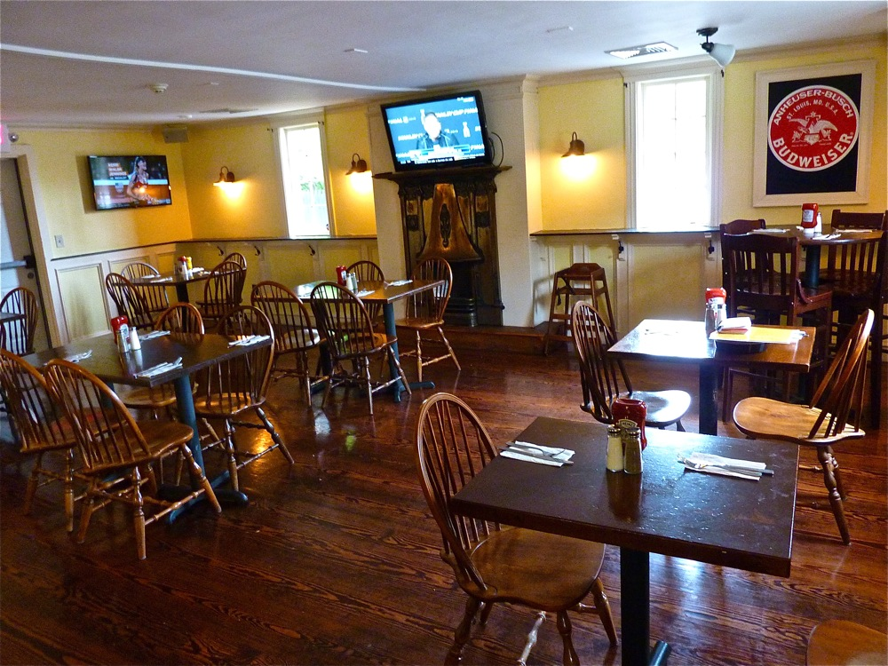 Separate dining room at Parker's Pub in Wrentham, Mass.