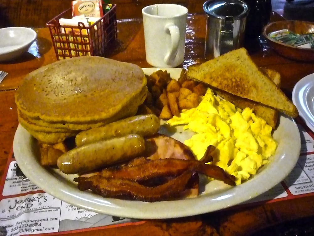The huge Parker's Special Breakfast from Parker's Maple Barn restaurant in Mason, N.H.