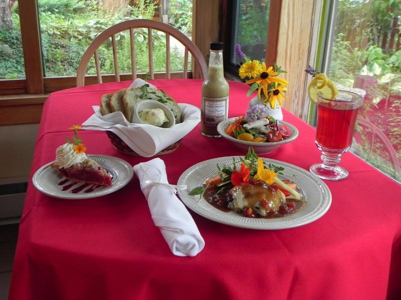 Locally sourced meal from Pickity Place in Mason, N.H.