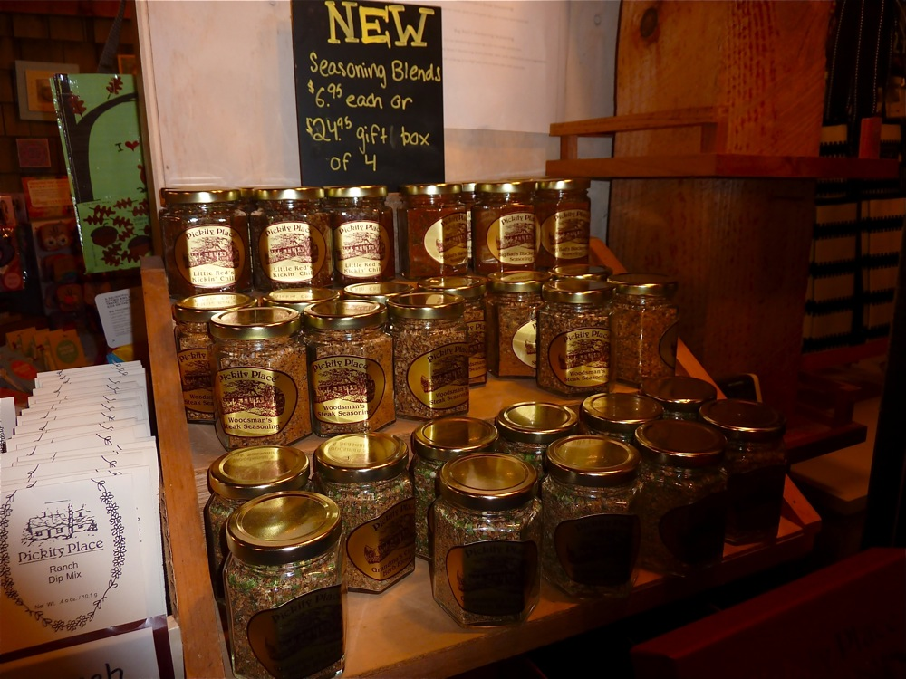 Herbal blends at the Pickity Place Gift Shop in Mason, N.H.