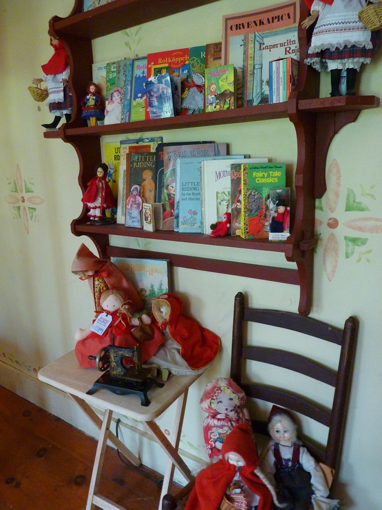 Little Red Riding Hood Museum collectibles at Pickity Place in Mason NH
