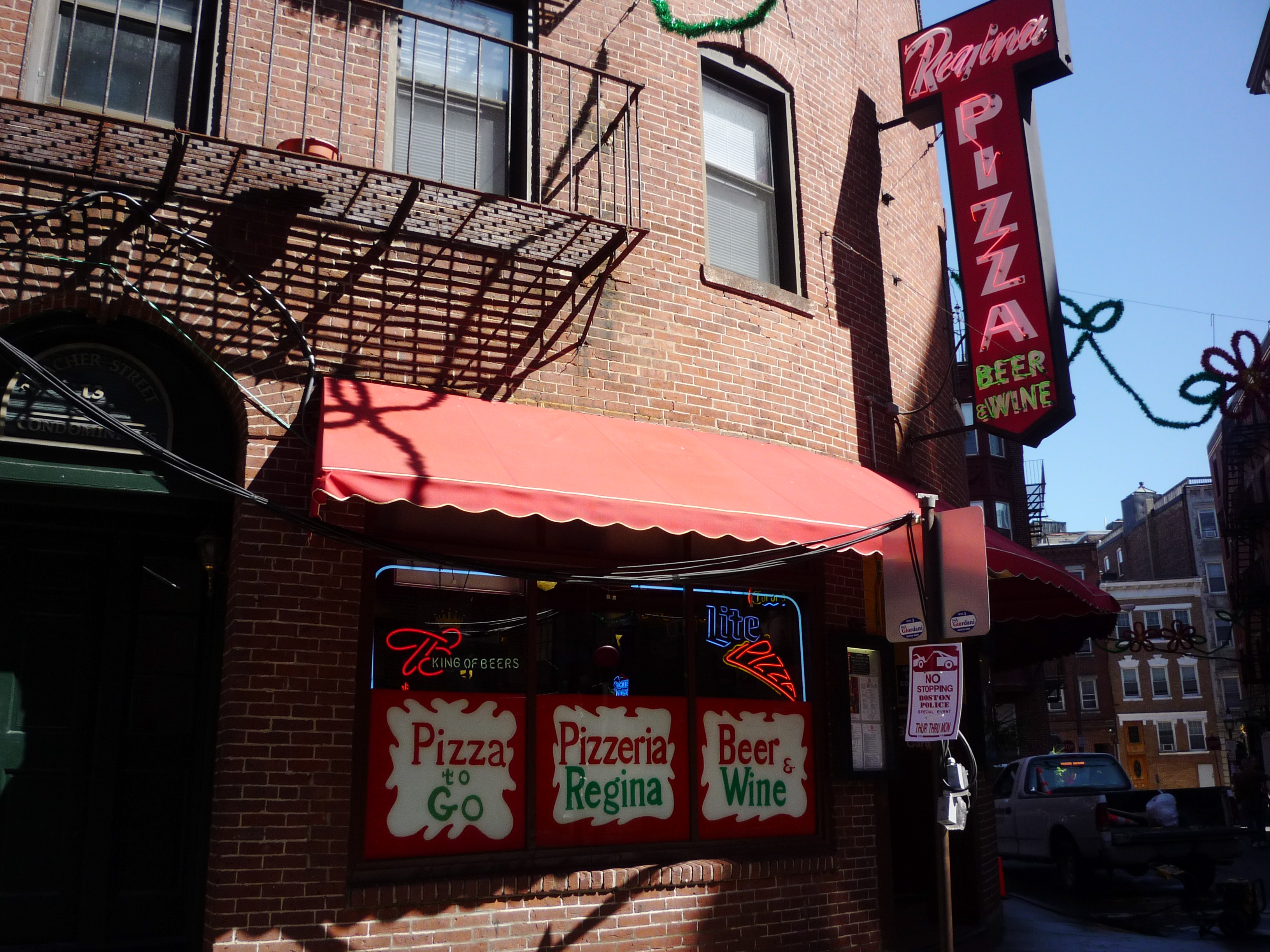 Regina Pizzeria in the North End of Boston, Massachusetts