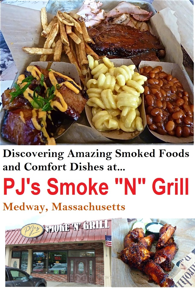 A visit to PJ's Smoke N Grill in Medway, Mass. This restaurant specializes in amazing, authentic smoked foods and comfort cuisine