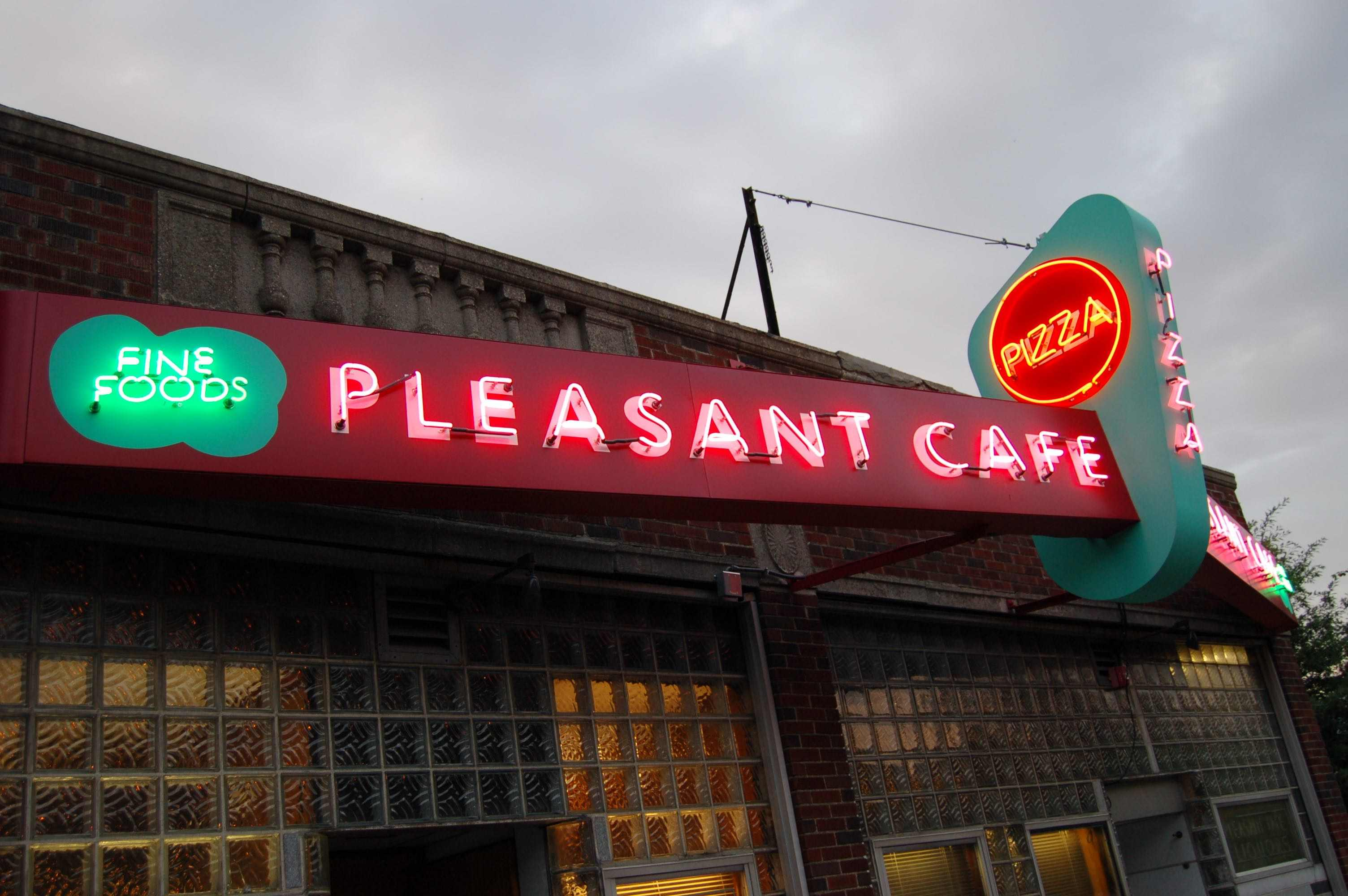 Pizza restaurant stories: Pleasant Cafe, Roslindale, Mass.