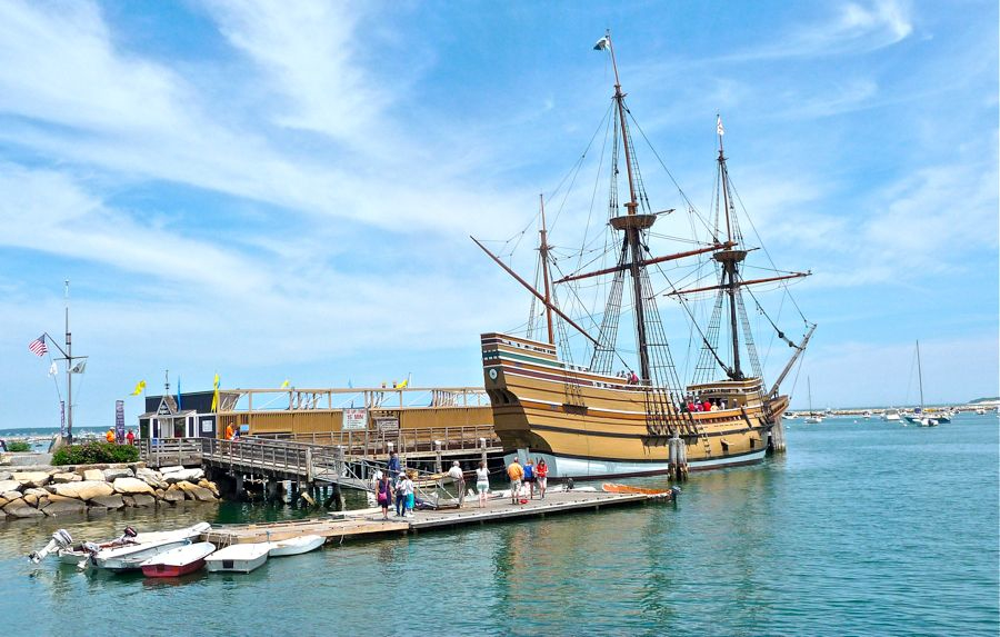 Mayflower Boat Photo, Plymouth, MA