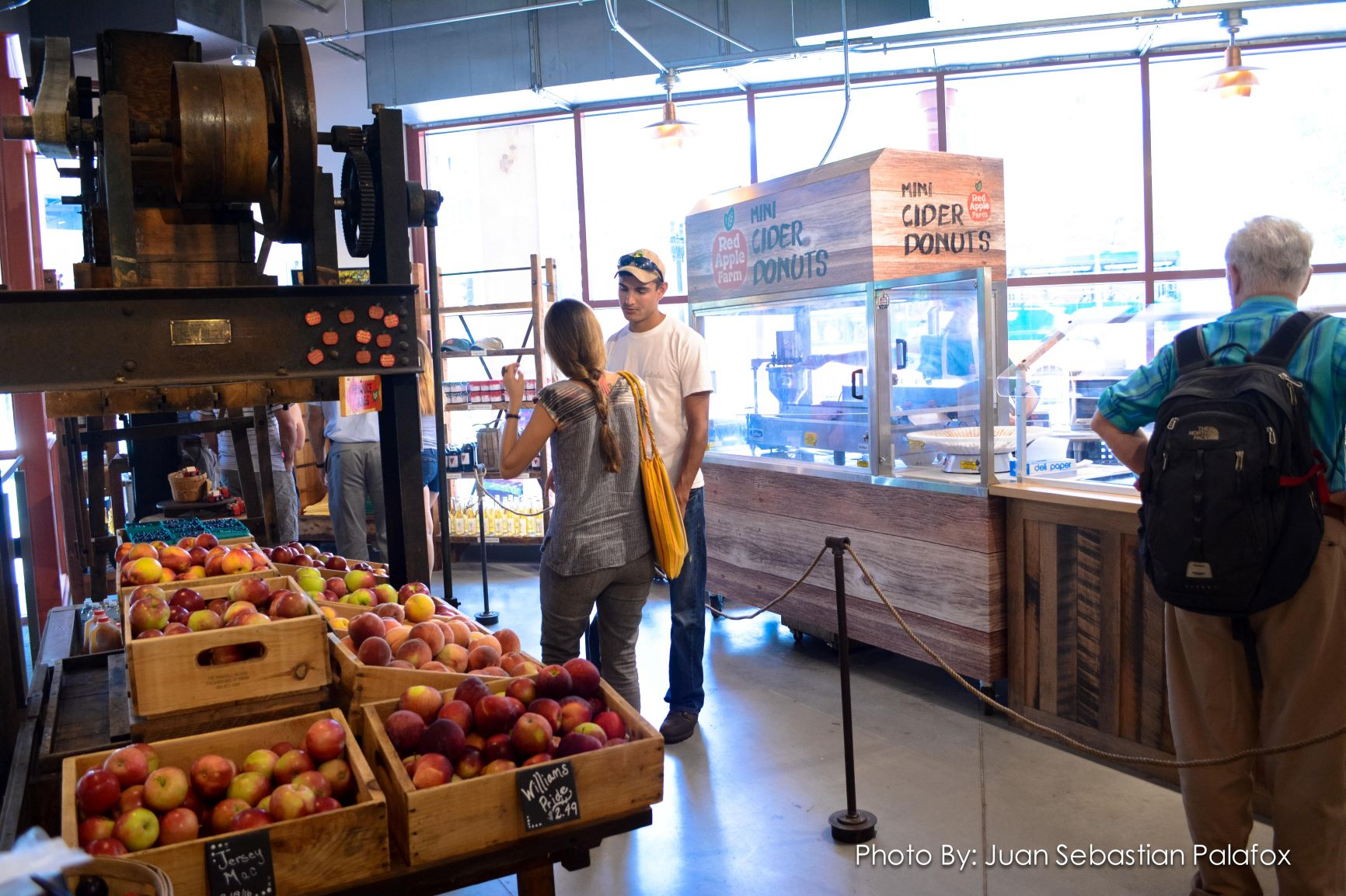Red Apple Farm has a permament station at the Boston Public Market in Boston, Mass.