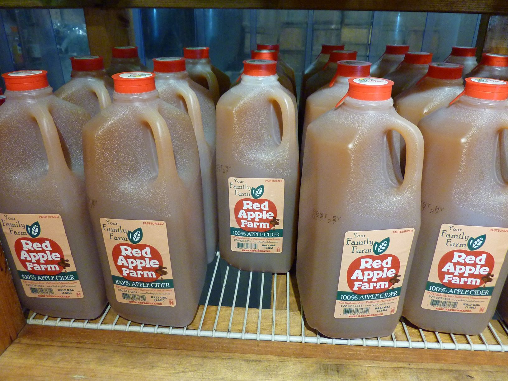 Fresh apple cider from Red Apple Farm in Phillipston, Mass.
