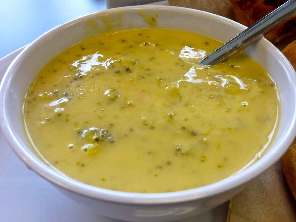 Broccoli cheddar soup from Red Cherry Cafe in Walpole, Mass.