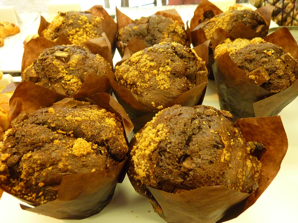 Chocolate muffins from Red Cherry Cafe in Walpole MA.
