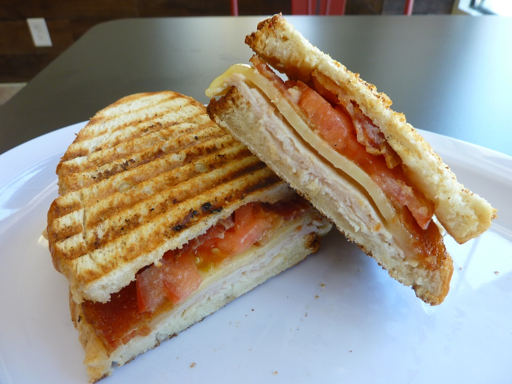 Turkey panini from Red Cherry Cafe in Walpole MA