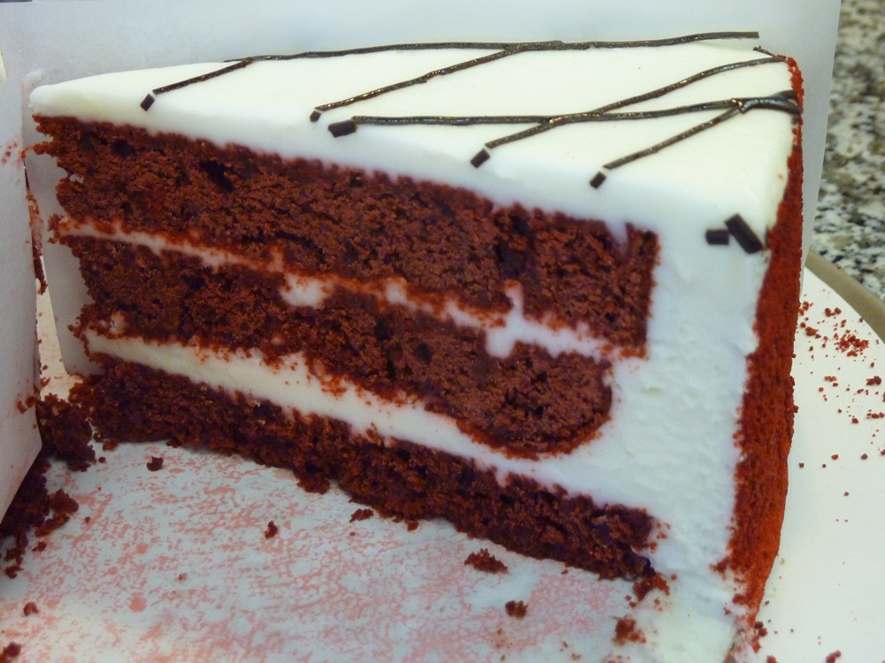 Red velvet cake from Red Cherry in Walpole, MA.