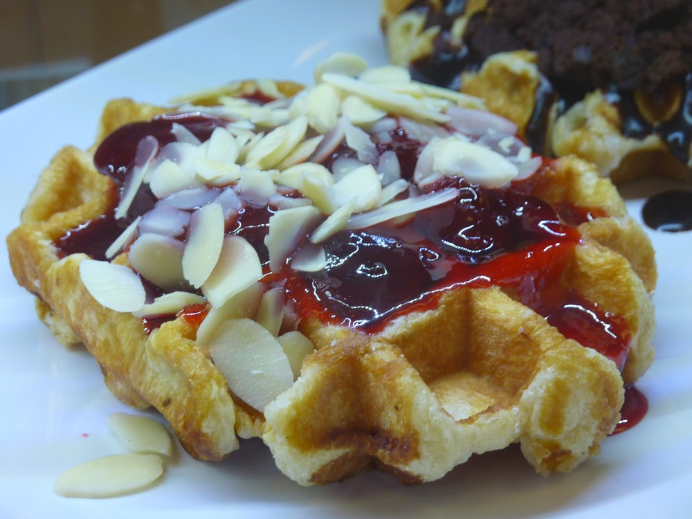 Waffle from Red Cherry Cafe in Walpole, MA.