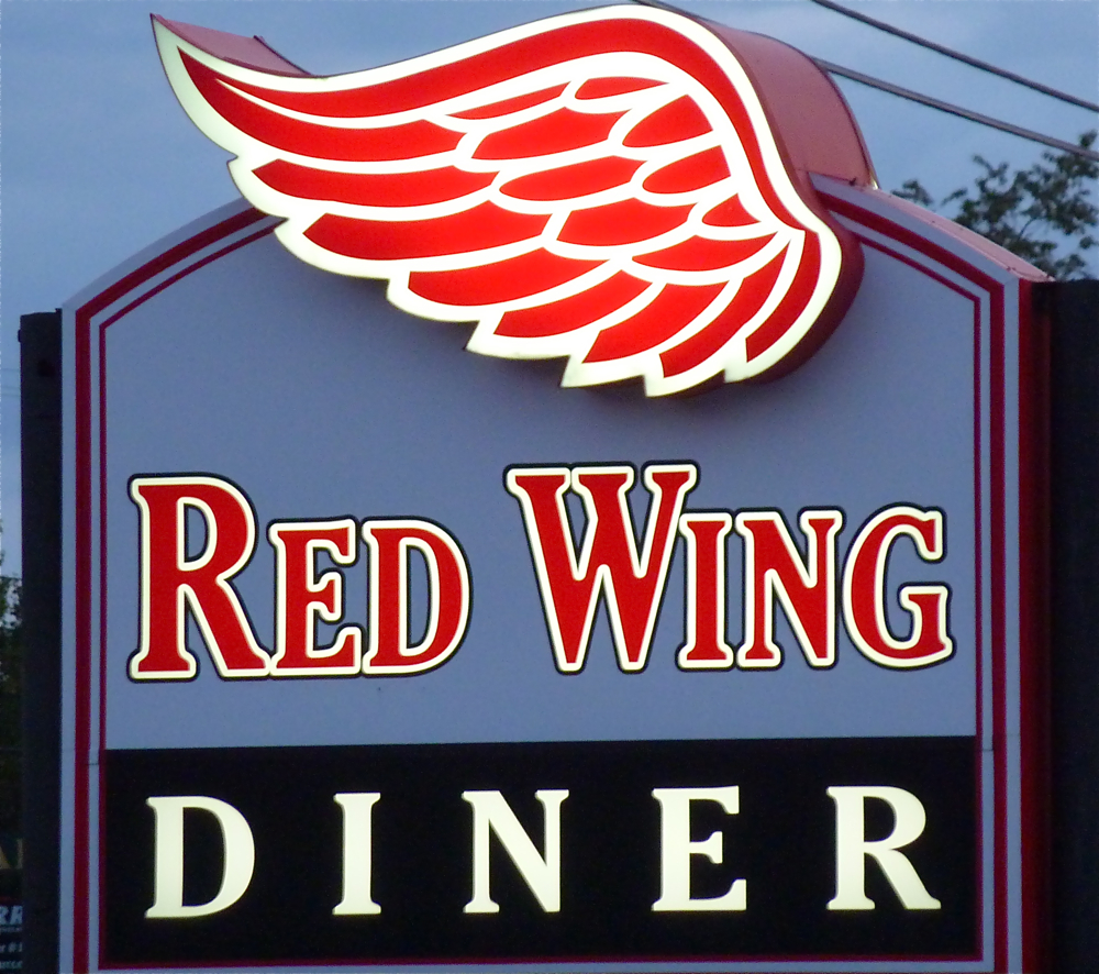 Red Wing Diner sign, Walpole, Massachusetts