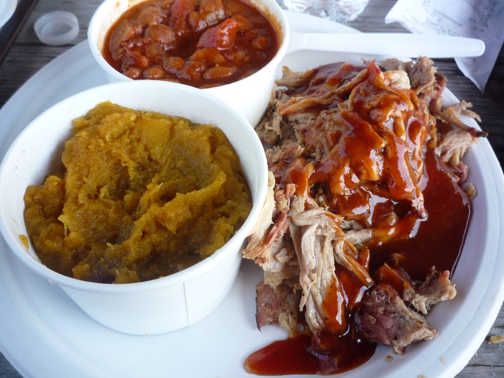 Barbecue pulled pork diner from Commonwelath BBQ in Wrentham MA
