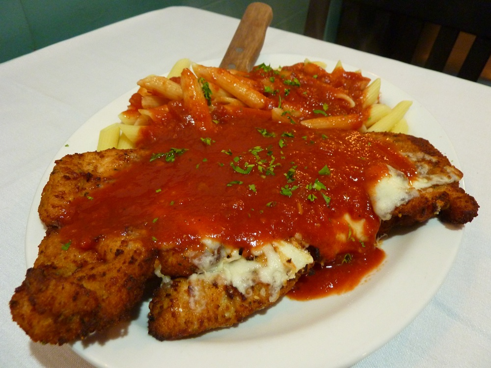 Chicken parm from Rosetta's Italian Restaurant in Canton, Mass.
