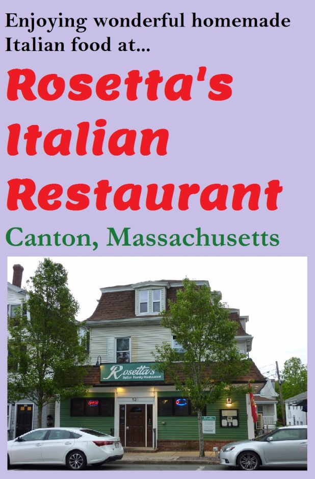 Carlo Gaita, owner of Rosetta's Italian Restaurant in Canton, MA. named his restaurant after his mom who has some wonderful homemade Italian recipes offered on the menu.