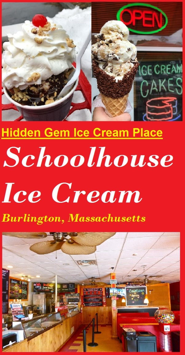 Schoolhouse Ice Cream in Burlington, Mass., is a hidden gem ice cream parlor that ranks right up there with offering the best ice cream cream in Massachusetts.