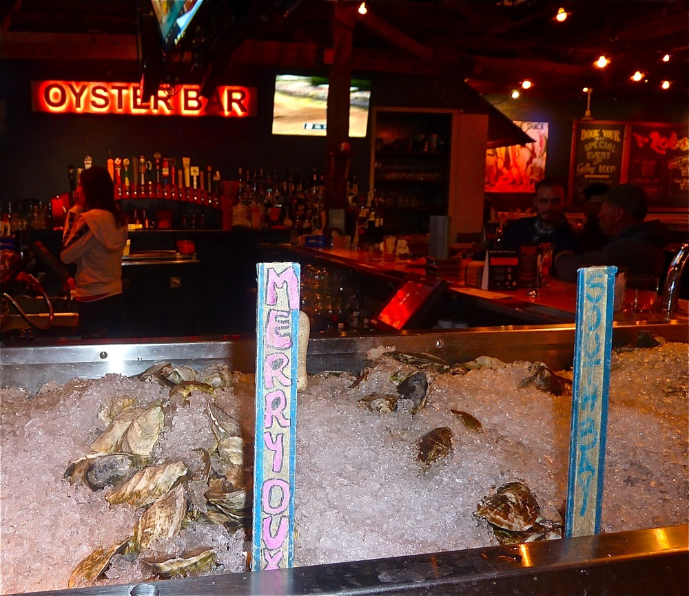 Oyster bar with locally sourced oysters at Jasper White's Summer Shack in Cambridge, Mass.