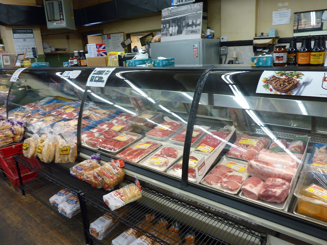 Meat section at Thwaites Marketplace in Methuen, Mass.