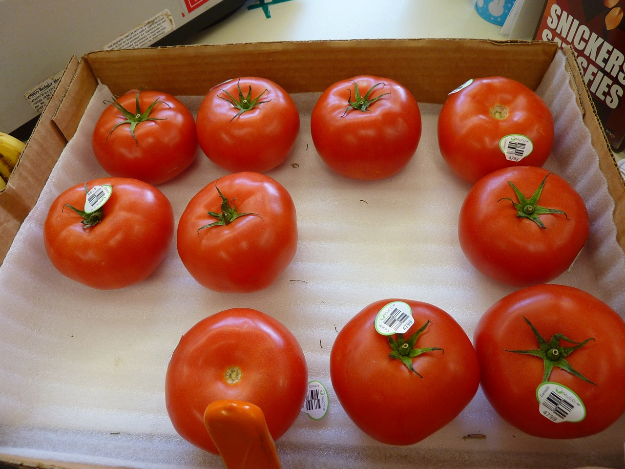 Tomatoes sold at Thwaites Market in Methuen, Mass.
