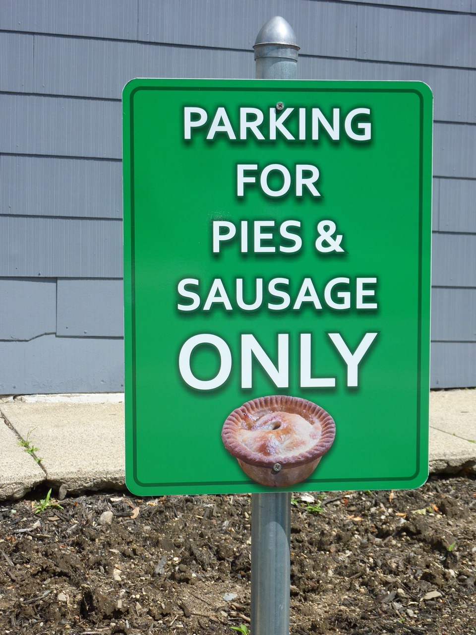 Pie sign at Thwaites Market in Methuen, Mass.