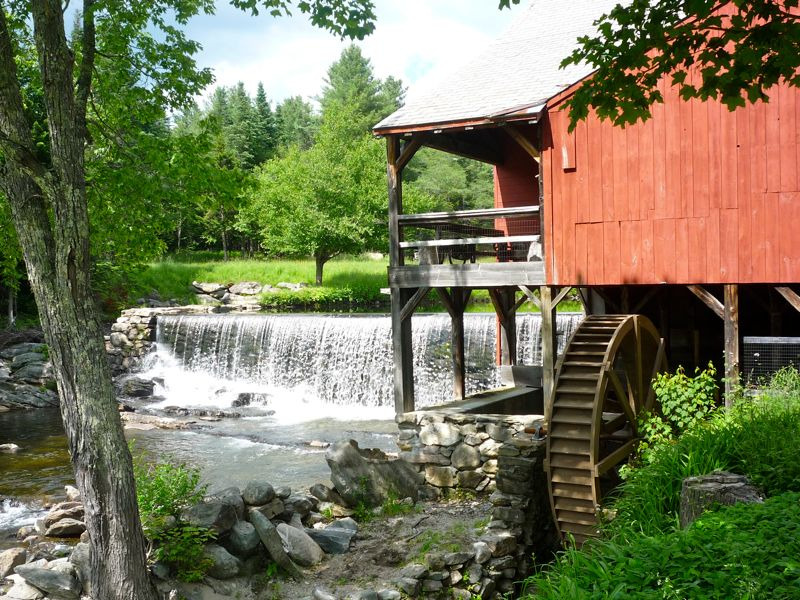 Picture of waterfall, Weston Vermont