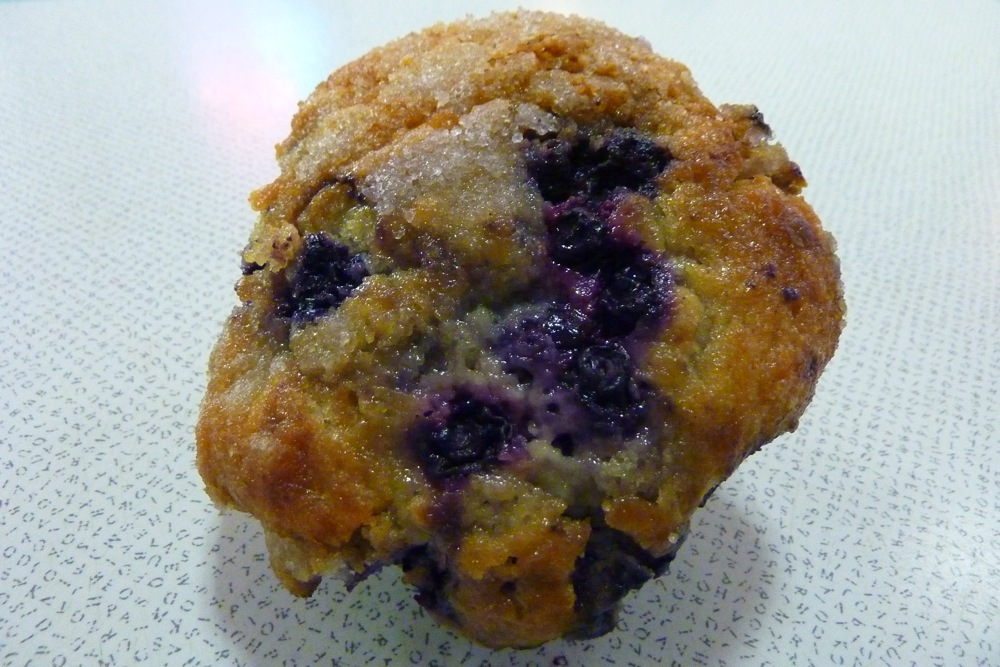 Blueberry muffin from Barry's Village Deli in Waban, Massachusetts