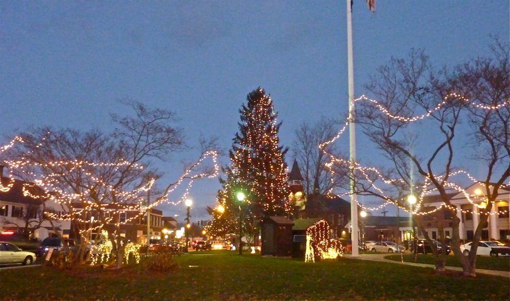 Christmas at the Town Common in Walpole, Massachusetts.