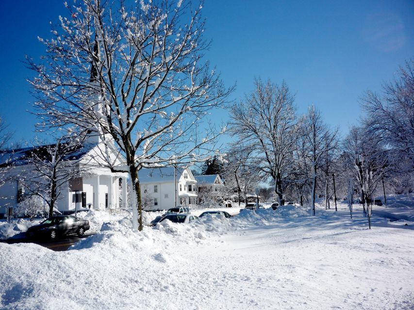 Walpole MA winter scene