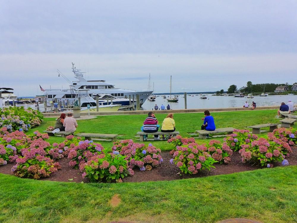 Relaxing in Watch Hill, Rhode Island.