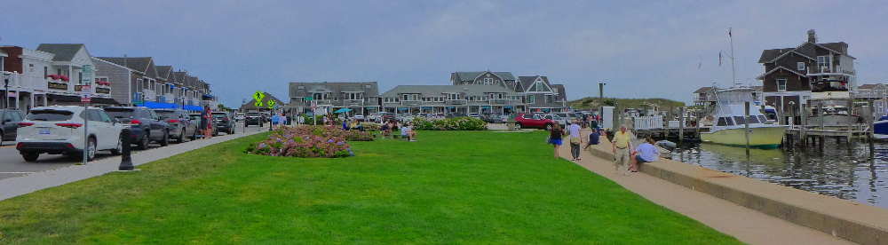 A panoramic view of Watch Hill, Rhode Island