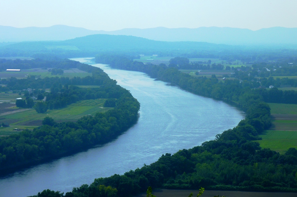View of the Connecticut River from Sugarloaf Mountain in South Deerfield, MA