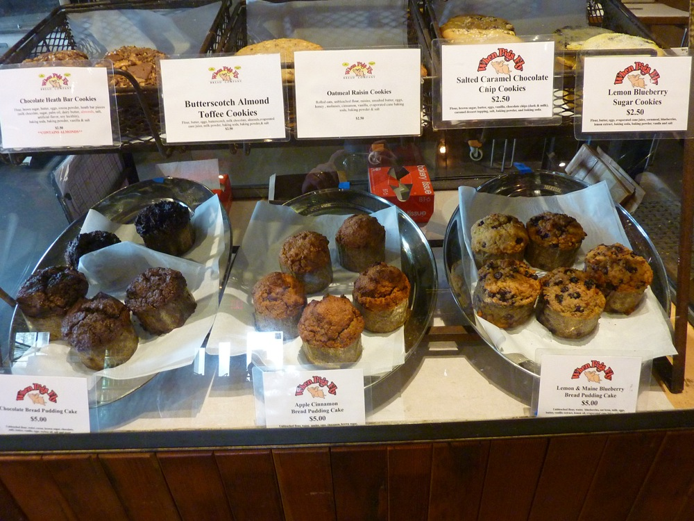 Baked goods from the When Pigs Fly flagship store in Kittery, Maine