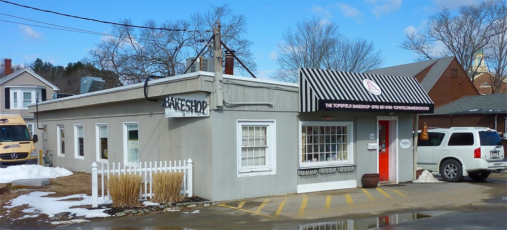Where the baked good are created: the production building behind the Topsfield Bake Shop.