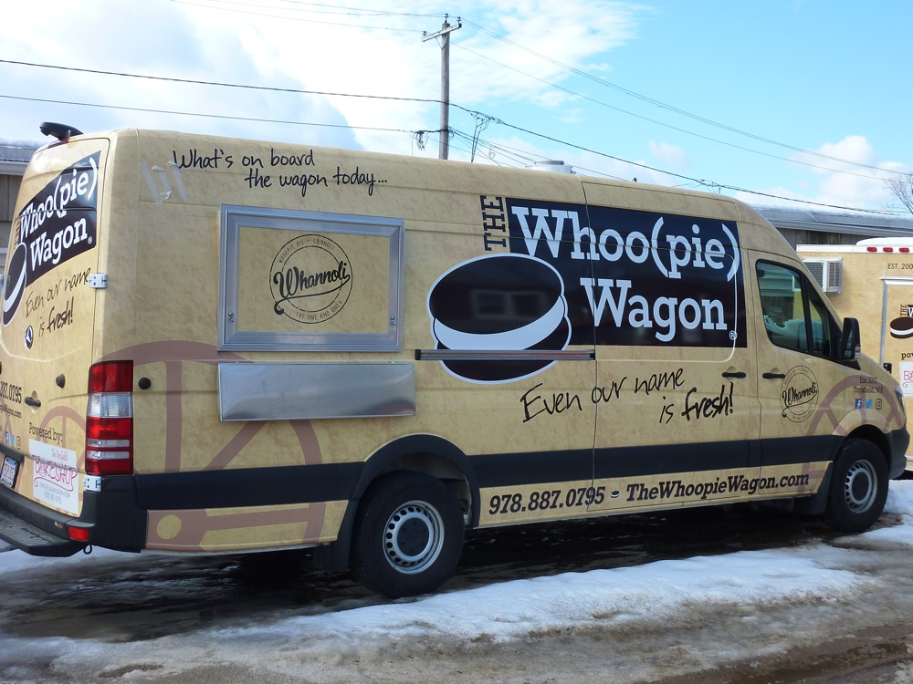The Whoo(pie) Wagon truck at the Topsfield Bakeshop in Topsfield, Mass.