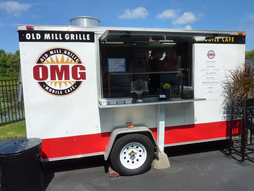 The Old Mill Grille food truck at the WinSmith Mill Market in Norwood, Mass.