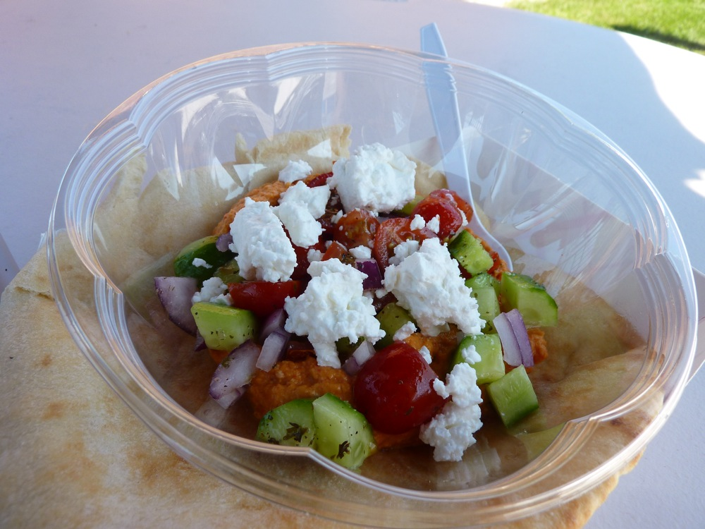 Mediterranean Salad from the OMG Food Truck at WinSmith Mill Market in Norwood, Mass.