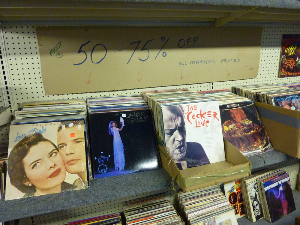 Records for sale at the Winsmith Mill market in Norwood, Mass.