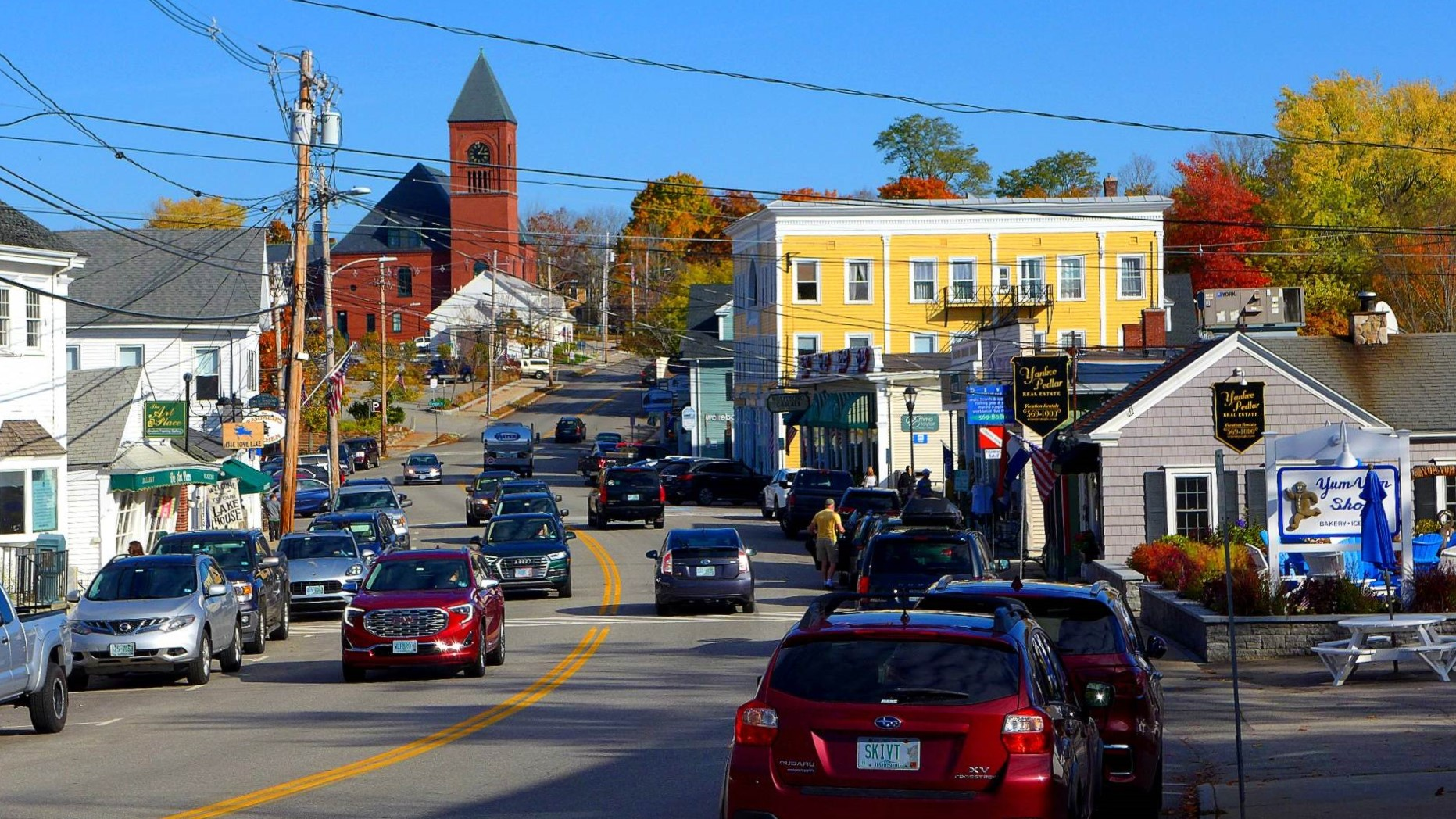 Main Street in downtown Wolfeboro, NH