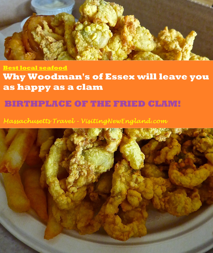 Woodman's of Essex Massachusetts is a local seafood shack landmark and the birthplace of the fried clam.