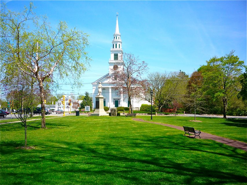 Downtown Wrentham MA church