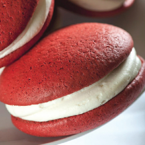 Red Velvet whoopie pie from The Whoo(pie) Wagon in Topsfield, Mass.