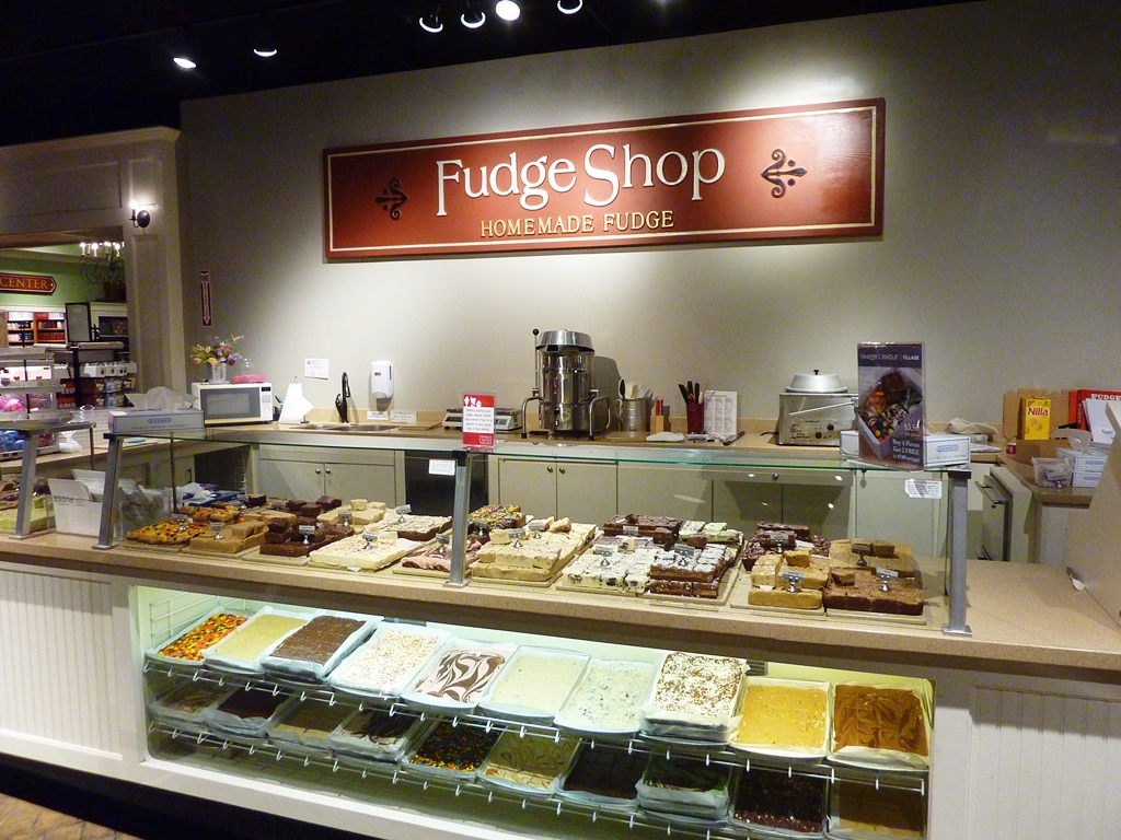 The Fudge Shop at the Yankee Candle flagship store in South Deerfield, Massachusetts