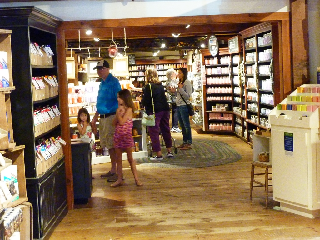 Candles everywhere at the Yankee Candle flagship store in South Deerfield, MA.