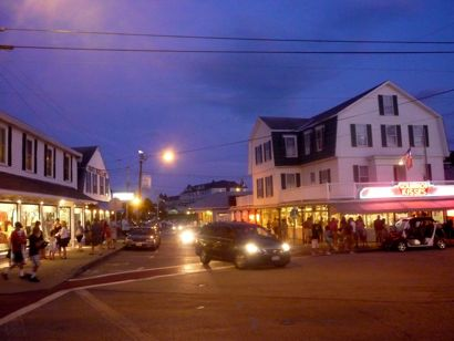York Beach Nighttime photo, Maine